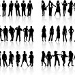 Royalty-Free Stock Vector Image: Conceptual collection silhouettes - vector work
