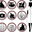 Medical Icons - silhouette of nurse - Stock Vector