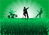 Crowd of at the concert — Stock Vector