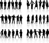 Conceptual collection silhouettes - vector work — Stock Vector