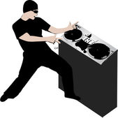 Disk Jockey — Stock Vector