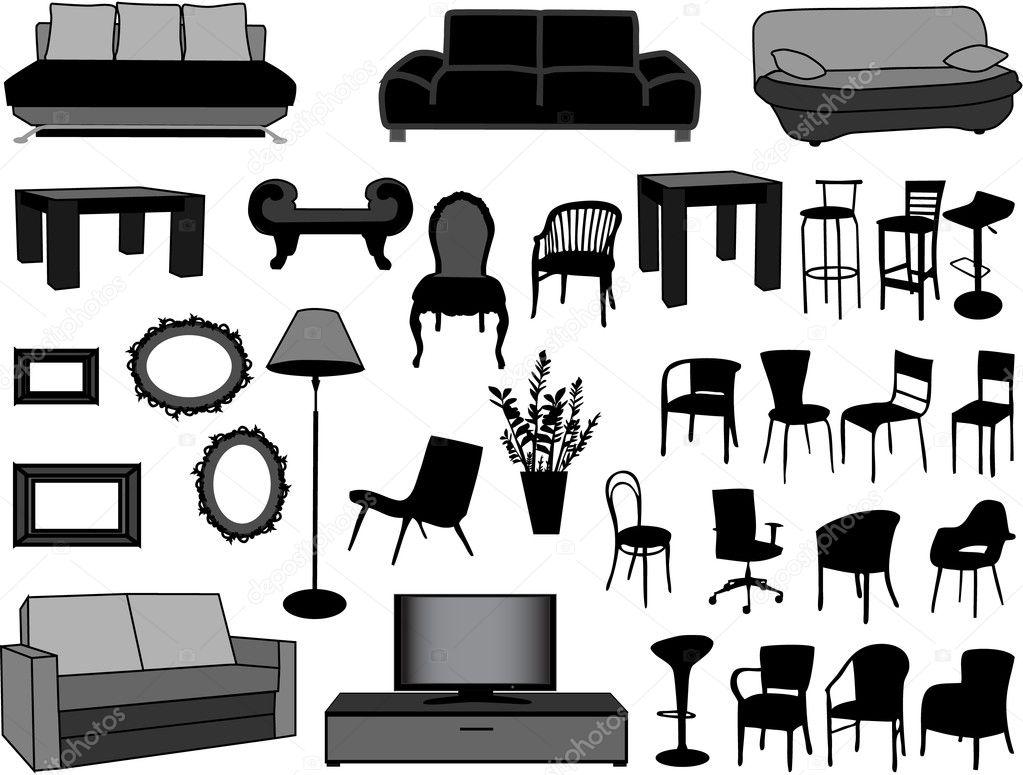 Gran colecci n de ilustraci n vectorial muebles vector for Stock de muebles