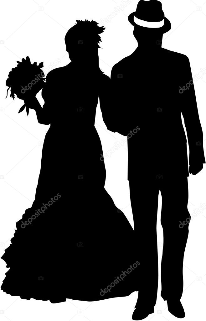 Married Couple - vector illustration  — Stockvectorbeeld #6602731