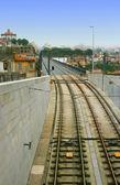 Railway at Dom Luis Bridge in Porto, Portugal — Stock Photo