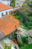 Colorful red roofs in old Porto — Stock Photo
