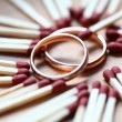 Wedding golg rings — Stock Photo #5502941