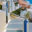 Stock Photo: Traditional old street in Santorini, Greece