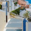 Traditional old street in Santorini, Greece — Stock Photo