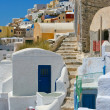 Classic old street in Santorini — Stock Photo