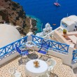 Stock Photo: Magic terrace in Santorini with Calderview