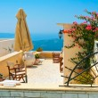 Stock Photo: Magic terrace in Santorini