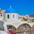 Постер, плакат: Blue churches of Oia in Santorini