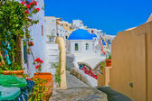 Magic view of Oia in Santorini — Stock Photo