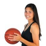 Teenage Girl with Basketball — Stock Photo #5455324