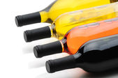 Wine Bottles on their side — Stock Photo