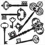 antieke sleutels — Stockvector