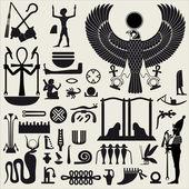 Mısır sembolleri ve işaret 2 set — Stok Vektör