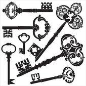 Antike schlüssel — Stockvektor