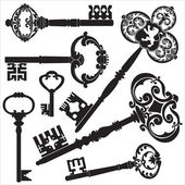 Starožitný klíče — Stock vektor