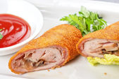 Rolls from pork meat — Stock Photo