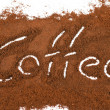 Stock Photo: Milled coffee sign