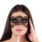 Girl at mask — Stock Photo #5665989