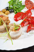 Fillet of pikeperch — Stock Photo