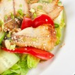 Salad of smoked eel — Stock Photo