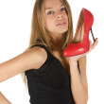 scarpa rossa — Foto Stock