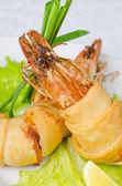 Shrimps dish — Stock Photo