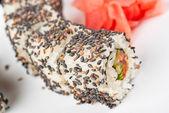 Sushi with sesame — Stock Photo