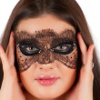 Girl at mask — Stockfoto #6583198