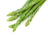 Fresh asparagus on white — Stock Photo