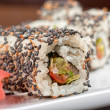 Sushi with sesame - Stock Photo