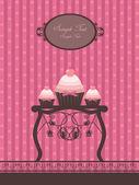 Vintage cupcake design — Stock Vector