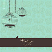 Vintage design with birdcages — Stock Vector