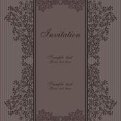 Elegant floral invitation — Stock Vector
