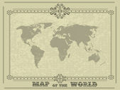 World map with vintage frame — Stock Vector
