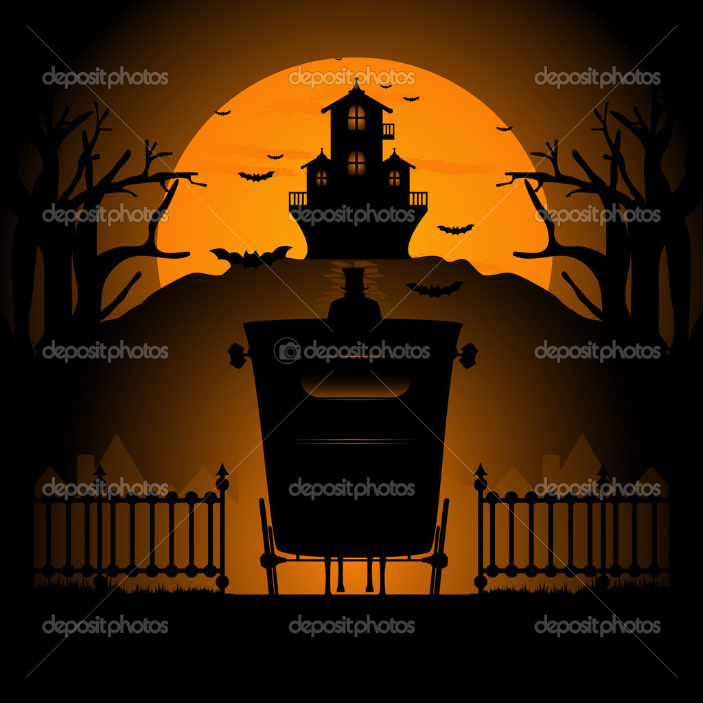 Vector illustration of  halloween background    #6683038
