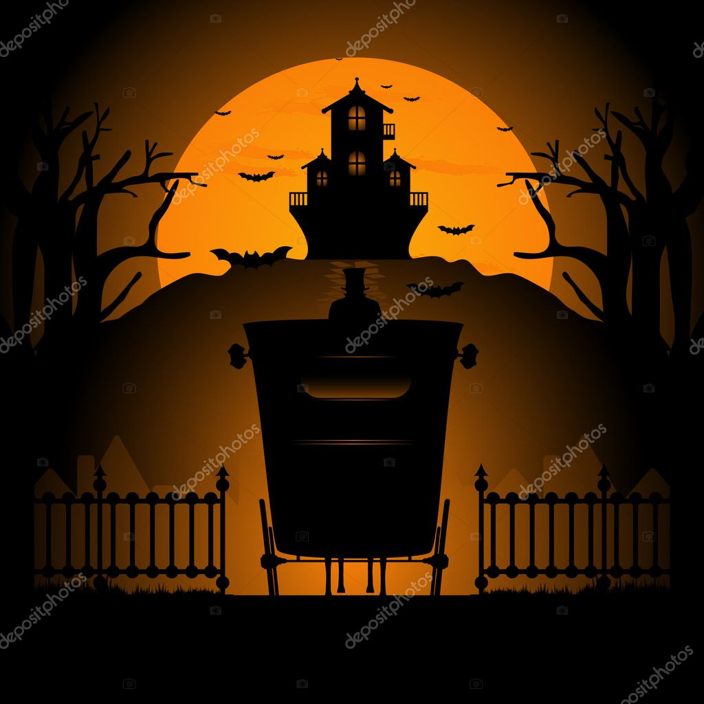 Vector illustration of  halloween background  Stok Vektr #6683038