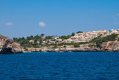 Cala Romantica bay - view from the open sea, Majorca, Spain — Stock Photo