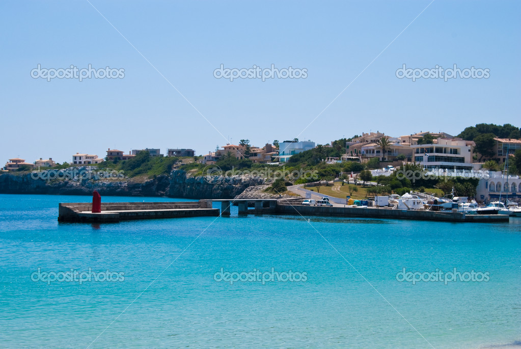 Porto Cristo port and waterfront district, Majorca island, Spain — Stock Photo #6322950