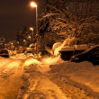 Winter street at night on long exposure — Stock Photo #6387909
