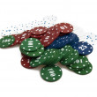 Pile of gambling chips — Stockfoto #6388797