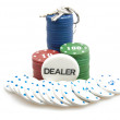 All in - poker chips and keys — Stok Fotoğraf #6388808