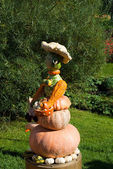 Señora calabaza estatuilla — Foto de Stock