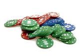 Pile of poker chips — Stock Photo