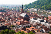 Heidelberg old town and the church — Stock Photo