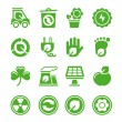Royalty-Free Stock Vector Image: Green environmental icons
