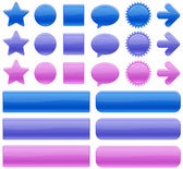 Color web buttons — Stock Vector